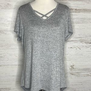 Gray Sonoma Criss Cross Front by Sonoma. Size L